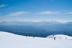 den Österrike semesterorten skidar Royaltyfri Fotografi