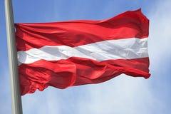 Den österrikiska flaggan Royaltyfri Fotografi