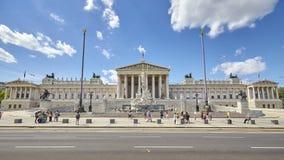 Den österrikiska parlamentbyggnaden Arkivfoto