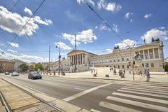 Den österrikiska parlamentbyggnaden Arkivbild