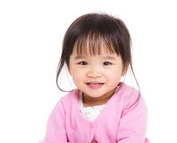 Den östliga asiatet behandla som ett barn flickan royaltyfri fotografi
