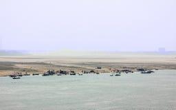 Den östliga banken av Gangesen Fotografering för Bildbyråer