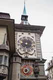 Den östliga framsidan av Zytgloggen, Bern Royaltyfria Bilder