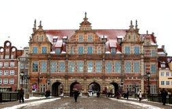 Den östliga porten av staden av Gdansk Arkivfoton