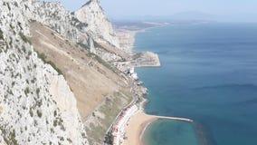 Den östliga sidan av Gibraltar arkivfilmer