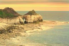 Den östliga Yorkshire kusten på Bridlington Royaltyfria Foton
