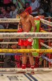 Den över hela världen berömda muay thai stridigheten, Thailand royaltyfri fotografi