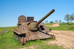 Enhet för artilleri SU-100 Arkivfoto