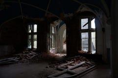 Den övergav slotten Royaltyfri Fotografi