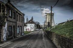 Den övergav staden i Belgien arkivfoton