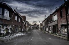 Den övergav staden i Belgien Royaltyfri Foto
