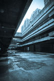 Den övergav stadsbyggnaden Arkivfoto
