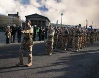 den 1st bataljonen skydd irländare Royaltyfri Bild