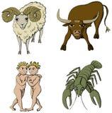 den 1st perioden undertecknar zodiac Arkivfoto