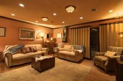 Den. Interior of a home den Stock Photo