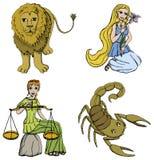 den 2nd perioden undertecknar zodiac Fotografering för Bildbyråer