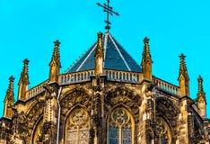 Den Aachen domkyrkan, också hög Aachen domkyrka, Tyskland Arkivbild
