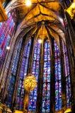 Den Aachen domkyrkan, också hög Aachen domkyrka, Tyskland Arkivfoton