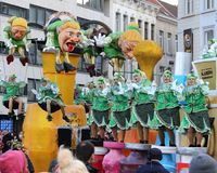 Den Aalst karnevalet ståtar 2018 Royaltyfri Foto