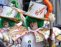 Den Aalst karnevalet ståtar 2018 Arkivfoton