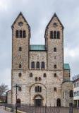 Den Abdinghof kyrkan, Paderborn, Tyskland arkivfoto