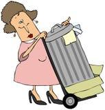 Den Abfall herausnehmen stock abbildung