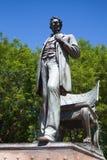Den Abraham Lincoln statyn parkerar in Chicago Arkivbild