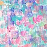 Den abstrakt begrepp texturerade akryl och vattenfärgen räcker målad bakgrund Fotografering för Bildbyråer