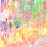Den abstrakt begrepp texturerade akryl och vattenfärgen räcker målad bakgrund Royaltyfria Bilder