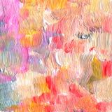 Den abstrakt begrepp texturerade akryl och vattenfärgen räcker målad bakgrund Arkivfoton