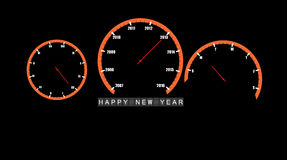 Den abstrakt bilen clocks den lyckliga vektorn 2013 för det nya året Fotografering för Bildbyråer