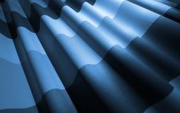 Abstrakt vinkad tygbakgrund för blått monokrom Royaltyfri Fotografi