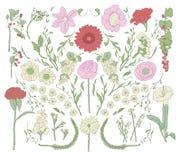 den abstrakt blommaillustrationen för kortet etc Royaltyfri Bild