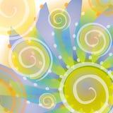 den abstrakt bluen dots guldpolka vektor illustrationer
