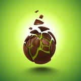Den abstrakt chokladgodisen klumpa ihop sig anmärker Arkivfoton