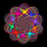 den abstrakt circularen colors regnbågen Arkivbild