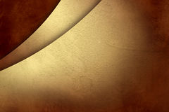 Guld- grungebakgrund på pappers- röd tappning texturerar Arkivfoton