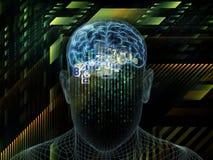 In mot den Digital medvetenheten vektor illustrationer