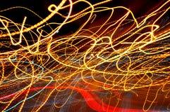 Den abstrakt gatan tänder Fotografering för Bildbyråer