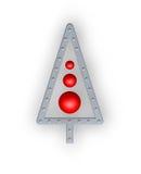 den abstrakt julen metal treen Arkivbilder