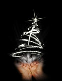 den abstrakt julen rymmer treen stock illustrationer