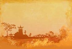 den abstrakt kinesen landskap Royaltyfria Bilder