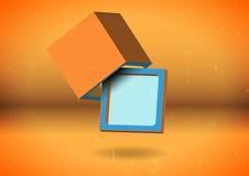 Den abstrakt kuben avskärmer Arkivbild