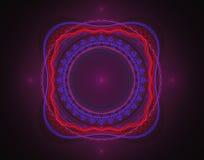 den abstrakt mitten spol bild för färgfractaltoner som den starka huvudregnbågen piskar Royaltyfria Foton