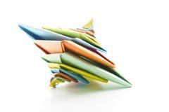 Den abstrakt origamien röra sig i spiral Royaltyfria Foton