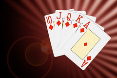 Den abstrakt poker cards bakgrund Arkivfoto
