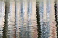 Den abstrakt reflexionen av trees bevattnar in Royaltyfri Bild
