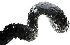 Den abstrakt svarten 3D virvlar runt Arkivfoto