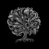 Den abstrakt treen med rotar för din design Royaltyfria Foton