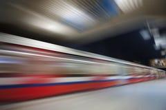 Den abstrakt tunnelbanan rusar vinkar Fotografering för Bildbyråer
